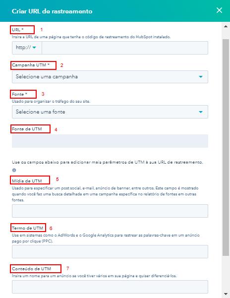 Como criar URLs de Rastreamento na HubSpot