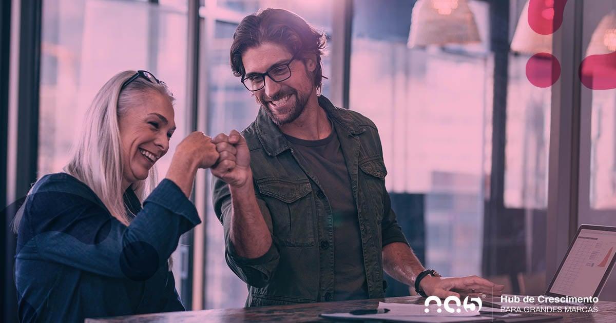 Analise os resultados da equipe de vendas na régua de comunicação