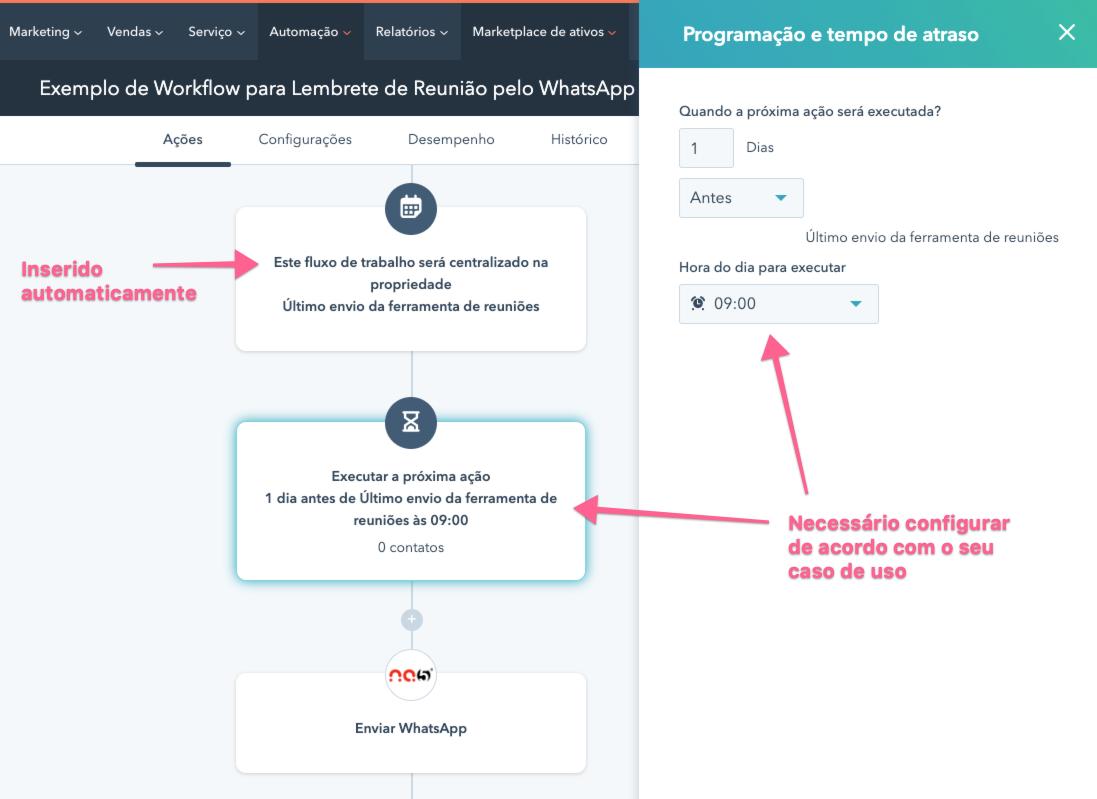 acoes-do-workflow-fluxo-de-tralalho-no-hubspot-para-envio-de-lembrete-de-reuniao-pelo-whatsapp