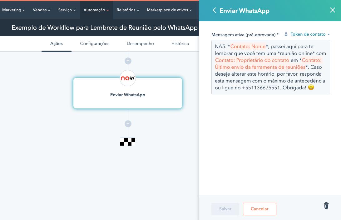 exemplo-de-mensagem-para-ser-enviada-como-lembrete-de-reuniao-pelo-whatsapp-no-workflow-fluxo-de-trabalho-hubspot