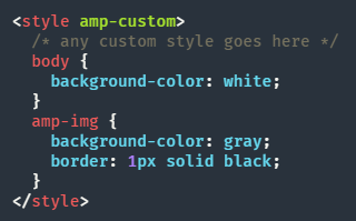 Estilo AMP - Alterando CSS